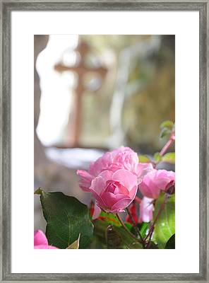 Church Flowers Framed Print by Jeremy Voisey