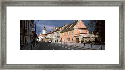 Church In A City, Black Church, Brasov Framed Print by Panoramic Images