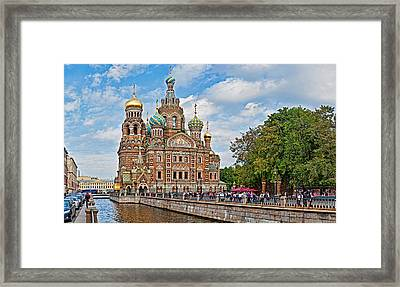 Church In A City, Church Of The Savior Framed Print by Panoramic Images