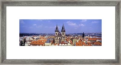 Church In A City, Tyn Church, Prague Framed Print