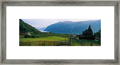 Church In A Village, Urnes Stave Framed Print