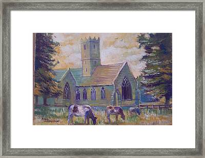 Framed Print featuring the painting Church In Adare by Paul Weerasekera