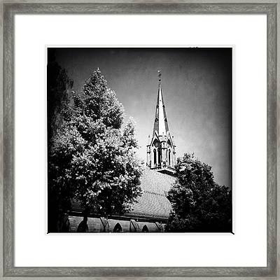 Church In Black And White Framed Print by Matthias Hauser