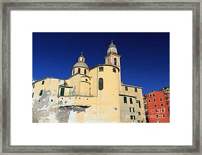 Framed Print featuring the photograph Church In Camogli by Antonio Scarpi