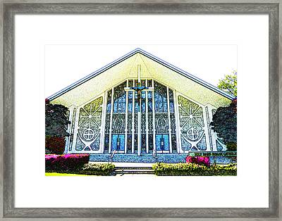 Framed Print featuring the photograph Church In Chalk by Laurie Tsemak