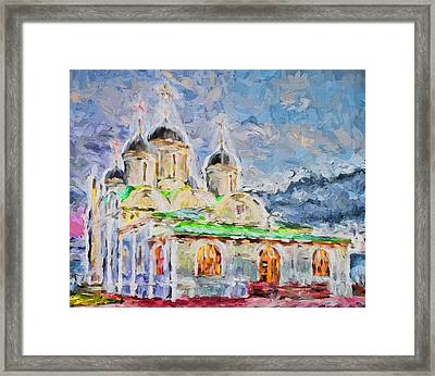 Church In Colours Framed Print by Yury Malkov