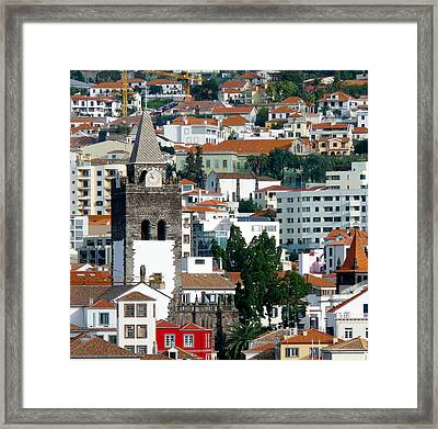 Church In Funchal Framed Print by Tracy Winter