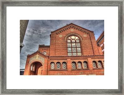 Church In Hdr Framed Print by Tim Buisman