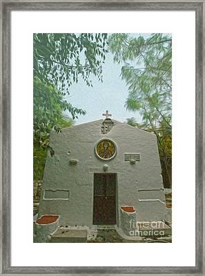 Church In Kos Framed Print by Nur Roy