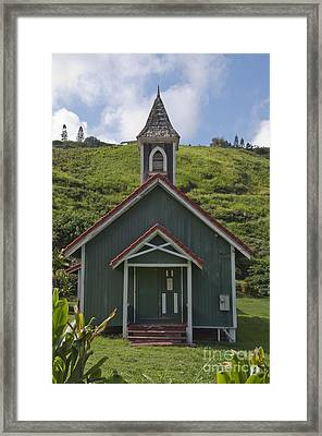 Church In Maui Framed Print