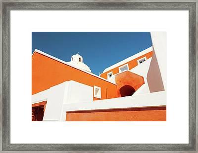 Church In Santorini Framed Print by Wladimir Bulgar