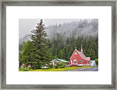 Church In Seward Alaska Framed Print