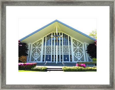Framed Print featuring the photograph Church In Spring by Laurie Tsemak