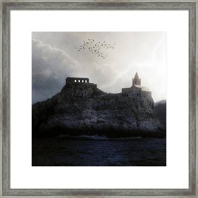 Church In Storm Framed Print by Joana Kruse