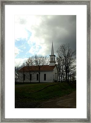 Church In The Country Framed Print