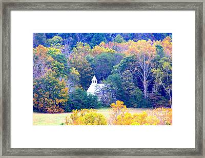 Church In The Glade Framed Print