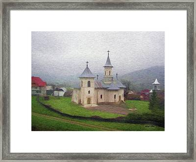 Church In The Mist Framed Print by Jeff Kolker