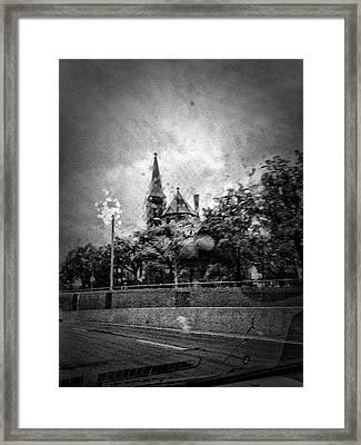 Church In The Rain Framed Print by H James Hoff