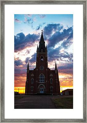 Framed Print featuring the photograph Silouette Of Faith by Shirley Heier
