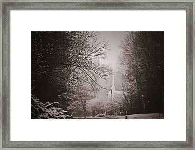 Church In The Snow  Framed Print