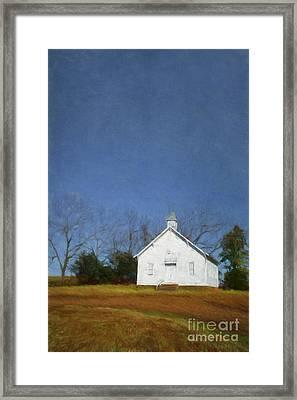 Church In The Suburbs Of Eureka Springs  Arkansas Framed Print
