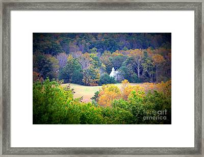 Church In The Woods Framed Print