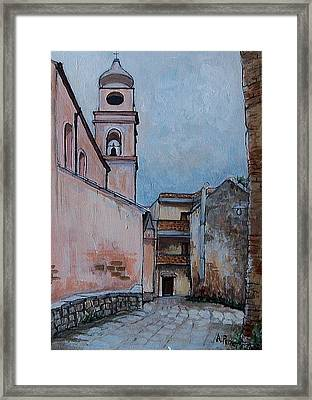 Church In Tursi Framed Print by Anne Parker