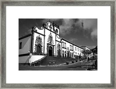 Church In Vila Franca Do Campo Framed Print by Gaspar Avila