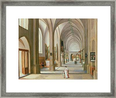 Church Interior Framed Print by Hendrik van Steenwyck