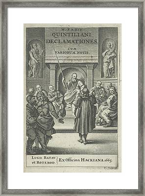 Church Interior With Clergy, Reinier Van Persijn Framed Print by Reinier Van Persijn And Franciscus Hackius