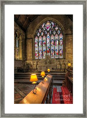 Church Lamps V2 Framed Print by Adrian Evans