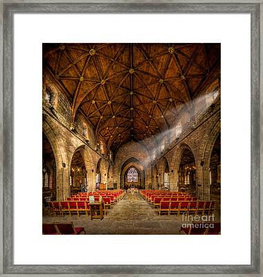 Church Light Framed Print by Adrian Evans