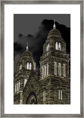 Church Lights On St. Peter Cathedral Framed Print by Optical Playground By MP Ray