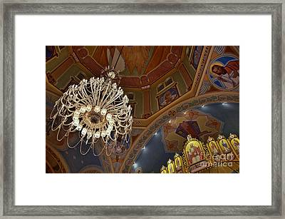 Framed Print featuring the photograph Church Lights by Sarah Mullin