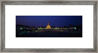 Church Lit Up At Night, Our Lady Of Framed Print by Panoramic Images