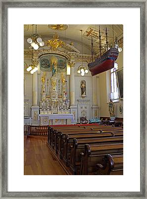 Church Notre Dame Des Victories In Quebec City Framed Print by Juergen Roth