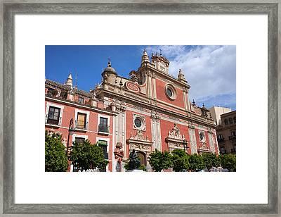 Church Of El Salvador In Seville Framed Print by Artur Bogacki
