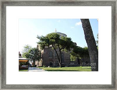 Church Of Hagia Eirene I - First Courtyard Topkapi Palace Framed Print by Christiane Schulze Art And Photography