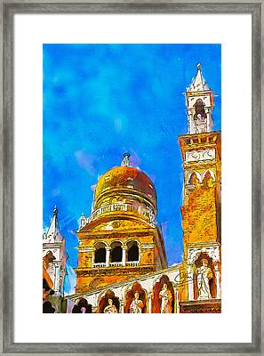 Framed Print featuring the painting Church Of Madonna Dell'orto by Greg Collins