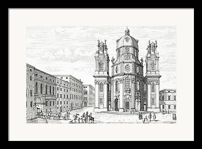 Salzburg Drawings Framed Prints