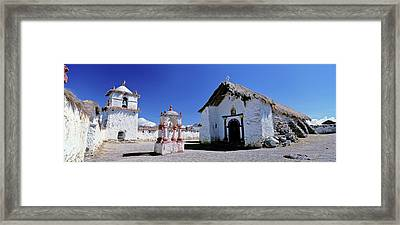 Church Of Parinacota, An Aymara Village Framed Print by Martin Zwick