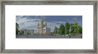 Church Of Peterhof Grand Palace Framed Print by Panoramic Images