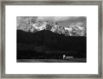 Church Of Saint Peter In Black And White Framed Print
