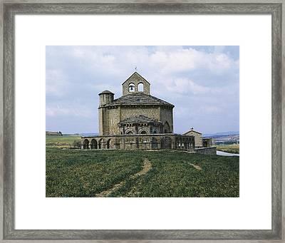 Church Of Santa Mar�a De Eunate. 12th Framed Print by Everett