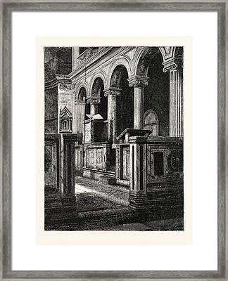 Church Of St. Clemente Framed Print