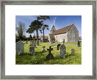 Church Of St John The Evangelist - Kenn - North Somerset Framed Print by Rachel Down