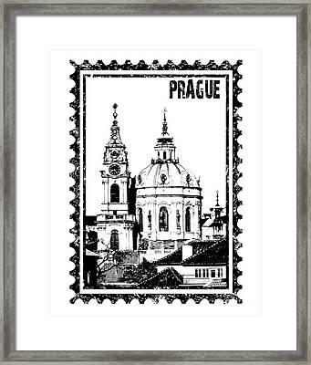 Church Of St Nikolas In Grunge Style Framed Print by Michal Boubin