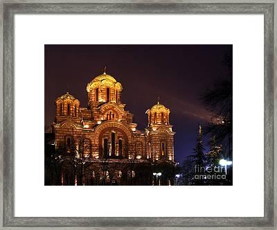 Church Of Sveti Marko Framed Print by Zoran Berdjan