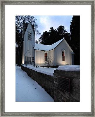 Church Of The Atonement Framed Print by David T Wilkinson