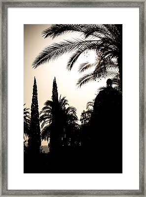Church Of The Beatitudes Silhouette Framed Print by Anthony Doudt